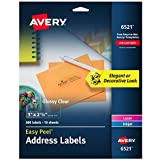 Avery Rectangle Dissolvable Labels, Clear (AVE6521)