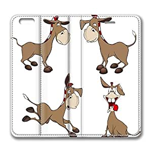 Brian114 6 Case, iPhone 6 Case - Slim Fit Leather Cover for iPhone 6 Cartoon Donkeys Shock Absorbent Leather Cases for iPhone 6 4.7 inch