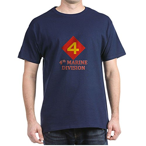 CafePress 4Th Marine Division T-Shirt - 100% Cotton T-Shirt