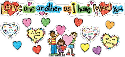 Carson Dellosa Christian Love One Another Bulletin Board Set (210020) ()