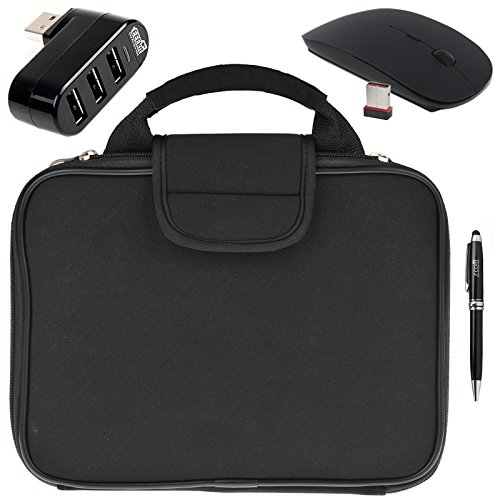 EEEKit 4 Items Starter Kit for Dell Venue 11 Pro 4th,Carrying Sleeve Case Bag,USB Hub,Wireless Mouse and Stylus(Starter Kit, Dell Venue 11 Pro 4th) (Aspire Premium Starter Kit compare prices)