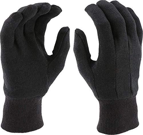 West Chester 65090 Polyester/Cotton Medium Weight Jersey Glove, Work, Knit Wrist Cuff, 9-3/4