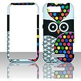 2D Dots Owl Motorola Photon Q LTE XT897 Sprint Case Cover Phone Snap on Cover Case Faceplates