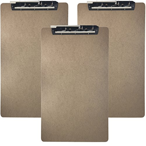 Trade Quest Ledger Size Clipboard Lever Hinge Clip 19.5'' x 11.6'' (Pack of 3) by Trade Quest