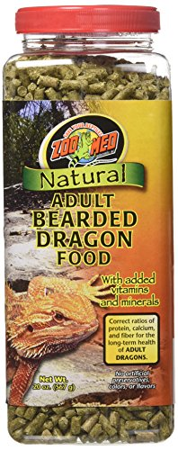 Zoo Med 20-Ounce Natural Bearded Dragon Food, Adult Formula