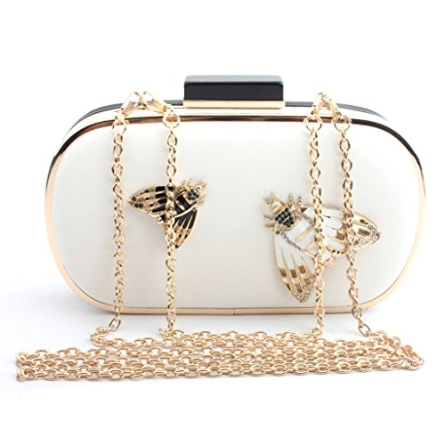 Prom White Black Lady Clutch Evening Purse Party Shoresu Fashion Handbag Bridal Women Bag Shoulder vO4awUFn