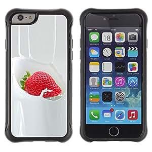 "Pulsar iFace Series Tpu silicona Carcasa Funda Case para Apple iPhone 6+ Plus(5.5 inches) , Strawberry crema dulce postre Bayas"""