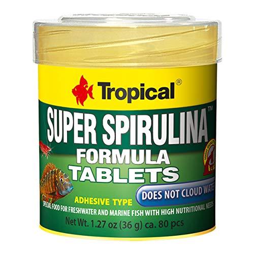 (Tropical USA Super Spirulina Formula Tablets Fish Food Tin, 36g)