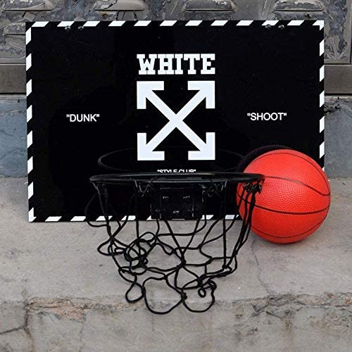 バスケットゴール バスケツトゴール バスケ ゴール ポータブルバスケットボールボード、ウォールはバスケットボールフープネットセットでボール無パンチングキッズバスケットボール玩具ゲーム(45x30cm)のハンギングバックボードをマウント 室内 屋外用