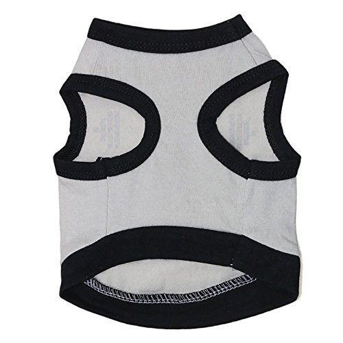NEARTIME Puppy Clothes, Small Dog Cat Pet Dress Fly Sleeve Dress for Pet D-Gray by NEARTIME (Image #1)