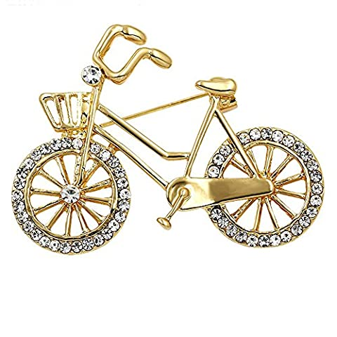 SENFAI Sports Style Gold Color Bike and Bicycle Brooch for Sportsperson (gold) - Bike Brooch Pin