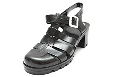 e905812286c83a JuJu W1615A Jellies Babe Womens 80s Summer Black Jelly Shoes Sandals ...