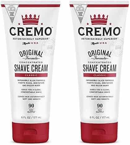 Cremo Original Shave Cream, Astonishingly Superior Smooth Shaving Cream Fights Nicks, Cuts And Razor Burn, 6 FL oz., 2-Pack