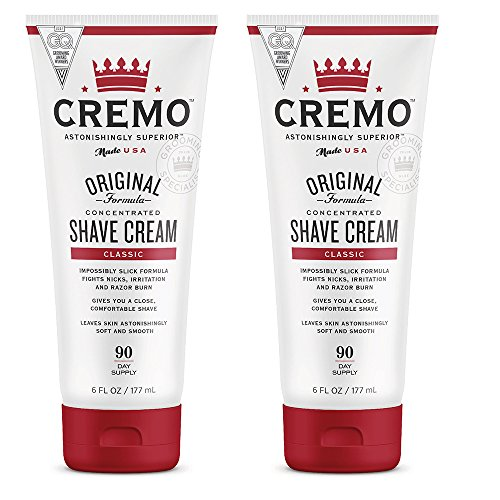 Cremo Original Shave Cream, Astonishingly Superior Smooth Shaving Cream Fights Nicks, Cuts And Razor Burn, 6 FL oz, - Black Clog Smooth