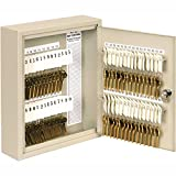 Sandusky Buddy 0160-6, 60-Key Tag Slotted Key Cabinet, Keyed Lock, 10''Wx2''Dx12''H, Putty