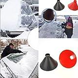 BSGSH Cone Funnel Shaped Windshield Ice Scraper, Scrape A Round Car Snow Frost Remover Tools, Scrape A Round Ice Scraper (Black)