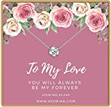 KEDRIAN to My Love Necklace, 925 Sterling Silver, Girlfriend Gifts for Women, Wife Gift, Gifts for Girlfriend, Love Necklace Pendant, Necklaces for Girlfriend, Mother's Day, Wife Birthday Gift Ideas