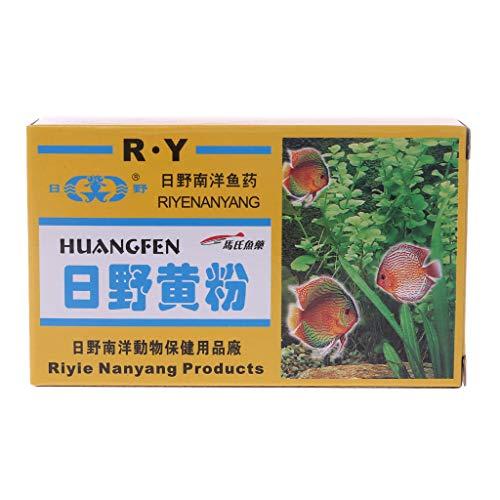 Onpiece Aquarium Fish Tank Treatment Yellow Powder for Ornamental Fish Treatment Bacterial, 4 Bags ()