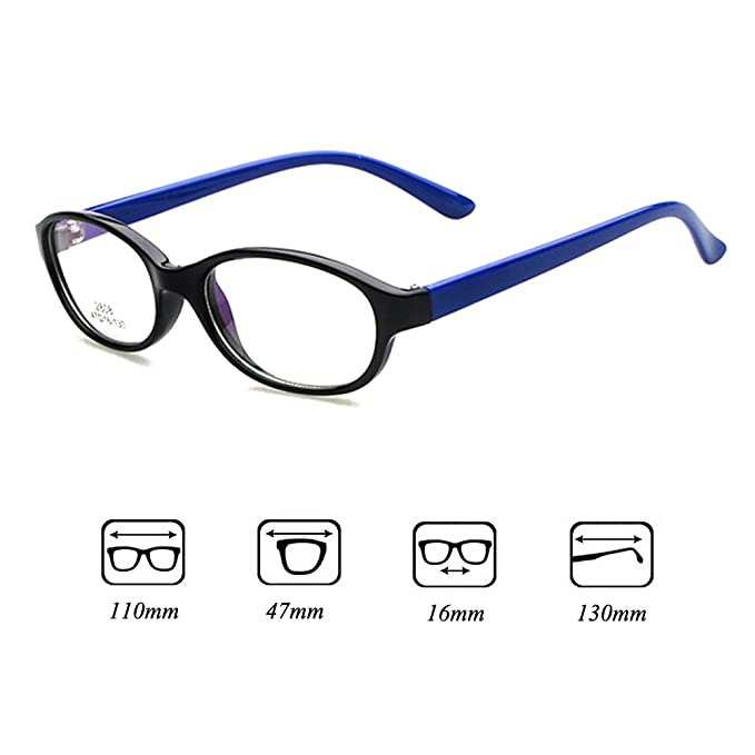 c2f34677d2 Kids Glasses Frame - Children Eyeglasses Clear Lens Retro Reading Eyewear  for Girls Boys - Juleya  112206  Amazon.co.uk  Clothing