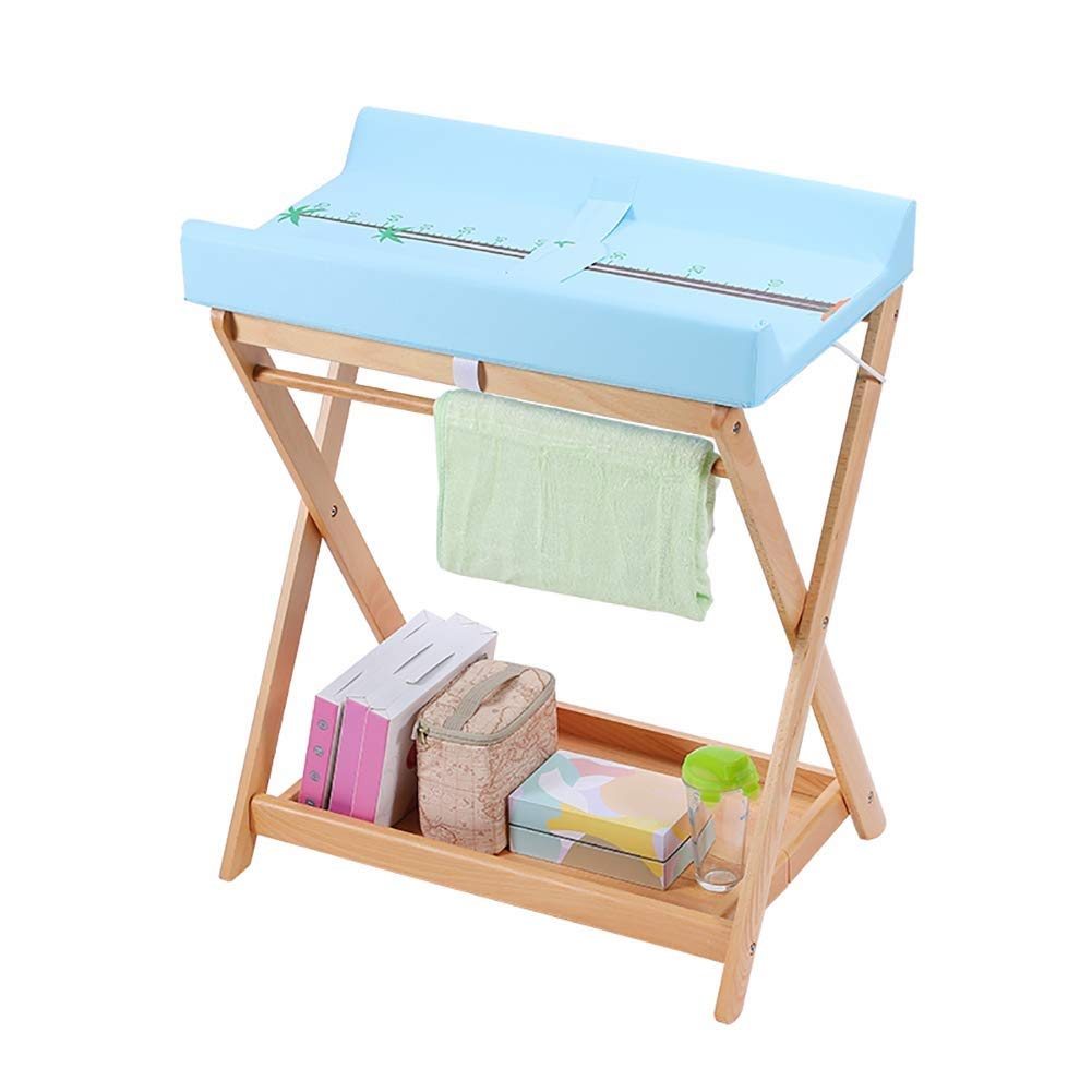 Sunny Multifunctional Foldable Diaper Table, Baby Care Table, Newborn Baby Changing Diaper Table Massage Touch Bath Table (Color : Blue)