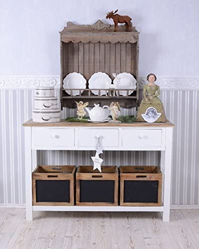 Küche Buffet Highboard Shabby Landhaus Anrichte Weiss Schubladen Sideboard weiss