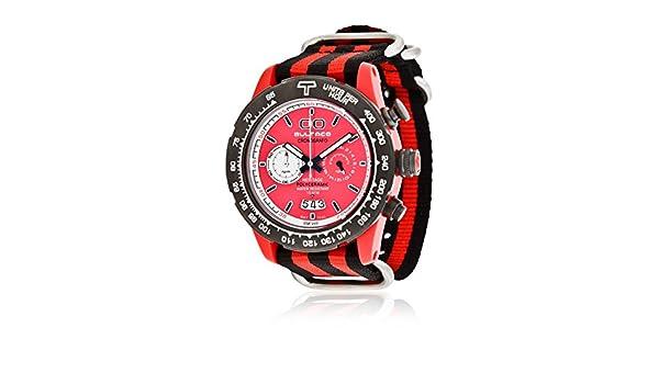 Bultaco Reloj de cuarzo H1PR43C-CR1-T5 Rojo/Negro 43 mm: Amazon.es: Relojes