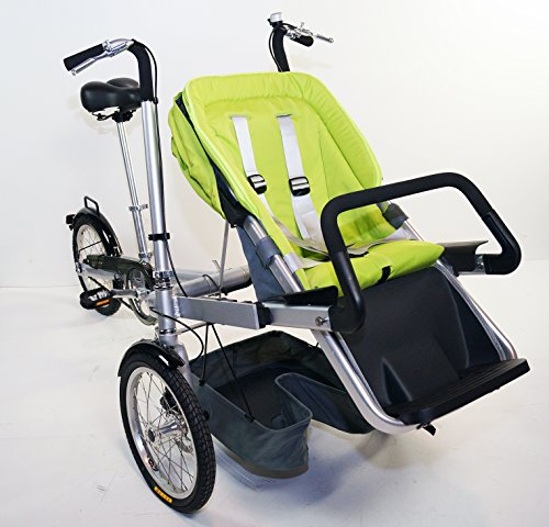 Mother Baby Stroller Bike Carrier 3 Wheels Folding Bicycle Pushchair Bike For Jogging. rideONEcar