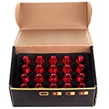 ECCPP New 20 Pcs Red M12X1.5 60MM Extended Forged Aluminum Tuner Racing Lug Nut Set