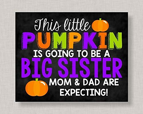 Mildred Rob Halloween Pregnancy Announcement SignHalloween Big Sister Pregnancy AnnouncementPumpkin Pregnancy Announcement Halloween Pregnancy Reveal ()