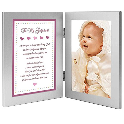 Godparents Gift from Goddaughter, Baptism or Thank You Poem, Add Photo