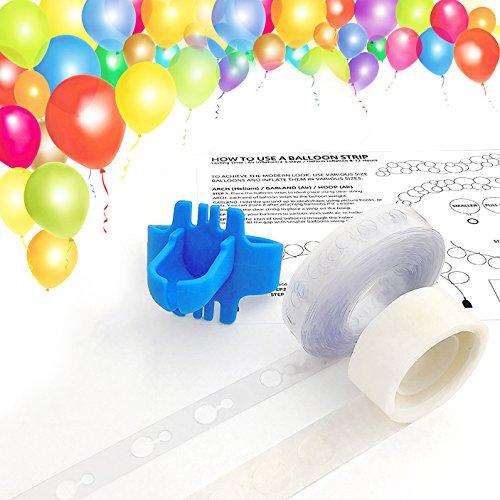Balloon Arch Garland Decorating Strip Kit, Reusable Balloon Tape Strip 16ft, Tying Tool, Dot Glue,Super Easy to Make Balloon Arch Garland (3)