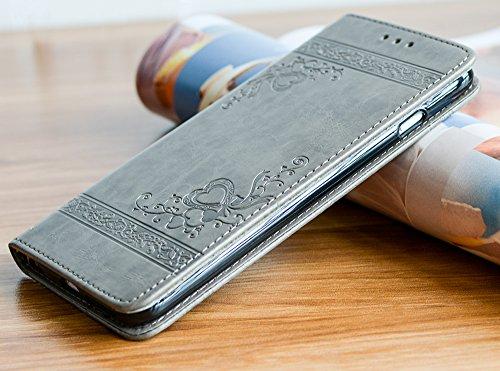 Roreikes Schutzhülle für Apple iPhone 6 6S (4.7 Zoll), Rüstungs Series Hülle Silikon Stoßfest Case Schutzhülle für Apple iPhone 6 6S (4.7 Zoll) - Grau