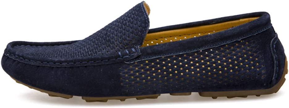 Loafers Summer Breathable Genuine Moccasins Men Driving Leather Casual Shoes Slip On Mocasines Hombre