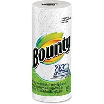 Bounty único rollo papel toallas 11 x 8,8 por Bounty: Amazon.es: Oficina y papelería