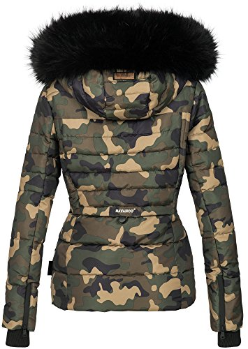 In Donna Imbottitura Invernale Navahoo nbsp;b361 Calda Da Army Camouflage Con Giacca Pelliccia w60wpqcI
