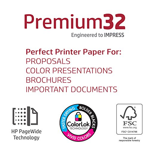 HP Printer Paper, Premium32, 8.5 x 11 Paper, Letter Size, 32 lb Paper, 100 Bright, 1 Ream / 500 Sheets - Presentation Paper, Acid Free Paper (113100R) by HP Paper (Image #3)