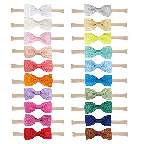 (Baby Nylon Headbands Hairbands Hair Bow Elastics for Baby Girls Newborn Infant Toddlers Kids by Prohouse (20PCS 2.3