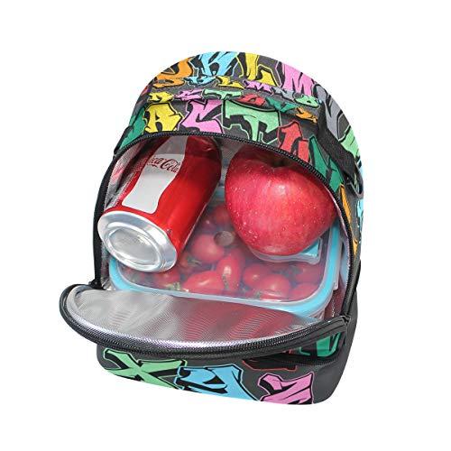 a para pincnic A para de nevera almuerzo correa ajustable Bolsa escuela hombro la aislada con el Zalfhabets Alinlo de gFwUqx5gW