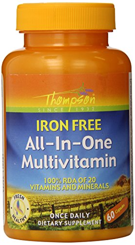 Thompson All-in-One Iron Free Capsules, 60 Count  (Pack of 6) For Sale
