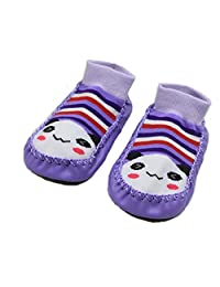 CONVER-X Cute Baby Boys Girls Toddlers Moccasins NON-SKID Indoor Shoes Socks/Slippers