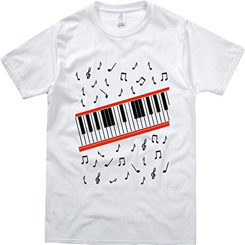 CIGUO Mens Boys Perfect Cosplay OLODUM Beat It Piano Peace Anti War T- Shirts (M, White-2) -