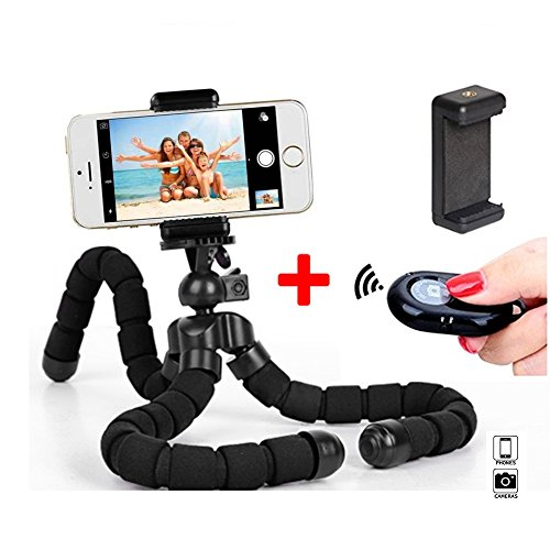 Phone Tripod, Wonsain Tripod Stand for Phones- Flexible Tripod with Wireless Remote Shutter for iPhone or Android, Mini Tripod for Camera and GoPro by Wonsain