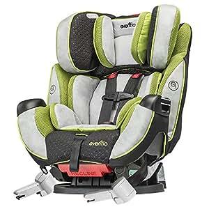 evenflo symphony 65 dlx porter car seat grey black green baby. Black Bedroom Furniture Sets. Home Design Ideas
