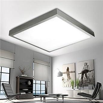 24W Deckenleuchte LED Deckenlampe Wandlampe Küchenlampe Beleuchtung Für  Wohnzimmer Schlafzimmer Kinderzimmer Büro, Silber Alurahmen,