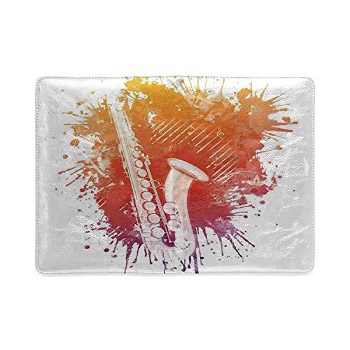 Jazz Music Decor Utility Notebooks,Graphic of Jazz Sax on a Colorful Creepy Background Modern Grunge Art Decor for Work,5.82