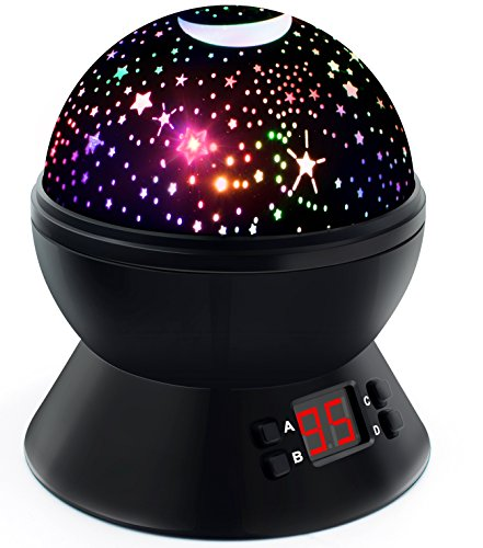 (Night Lights for Kids, Multicolor Star Projector with Timer, Baby Night Light for Boys and Girls)