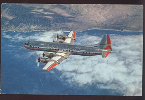 Electra American Airlines - Electra Flagships Jet Powered American Airlines Flying Airplane Vintage Postcard