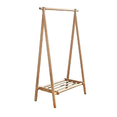 Amazon.com: Muzhixiu Perchero de madera maciza con estantes ...