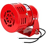 WEONE remplacement Red Industrial AC 220V MS-190 High Power Buzzer Sirène d'alarme sonore Moteur Fer + ABS Lame sonore