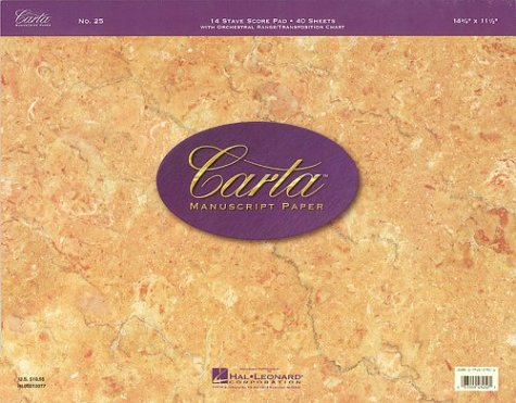 Carta Manuscript Paper No. 25 - Professional